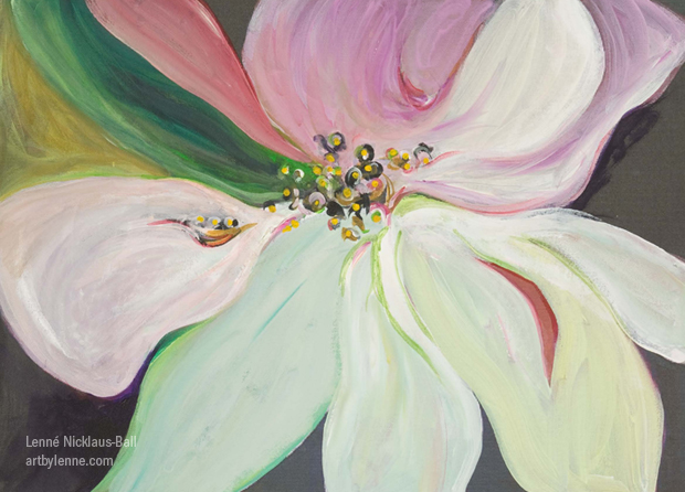 Sunset Magnolia. Painting and giclee by Lenne.